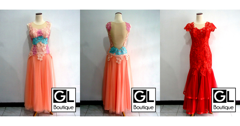 DRESS PESTA KOMBINASI BROKAT<br/>Cisaranten Endah<br/>
