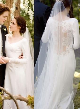 Ella Barrett On Film Fashion Wedding Dress Wednesday The Twilight