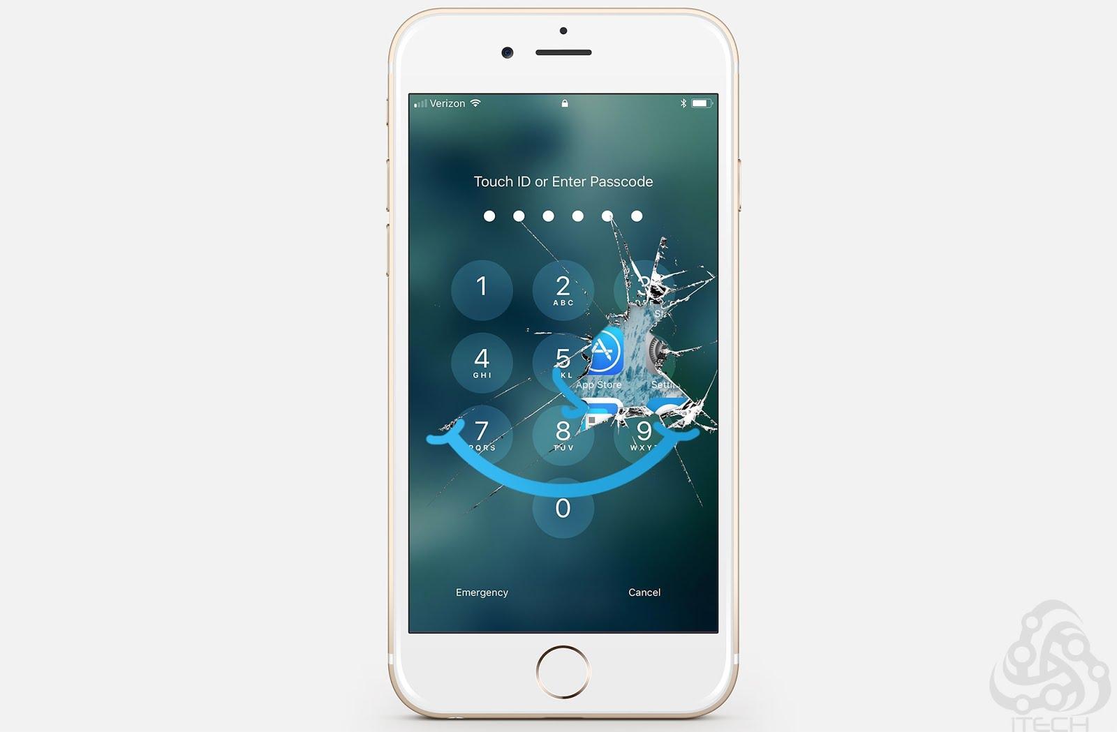 جهاز صغير قادر على اختراق أي آيفون 7 او 7 بلس ومعرفة الرمز السري