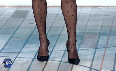 Mia Ceran calze velate pois pallini scarpe 17 gennaio 2021