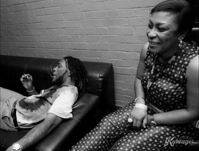Burna Boy and His Mum