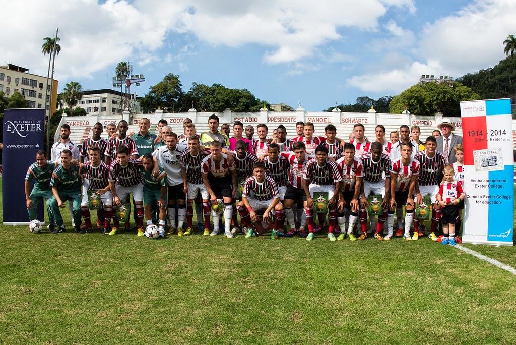 """100 ANOS Sub-23 do Fluminense e Exeter City comemoram aniversário da  Seleção nas Laranjeiras  0 x 0. """" 012862927a146"""