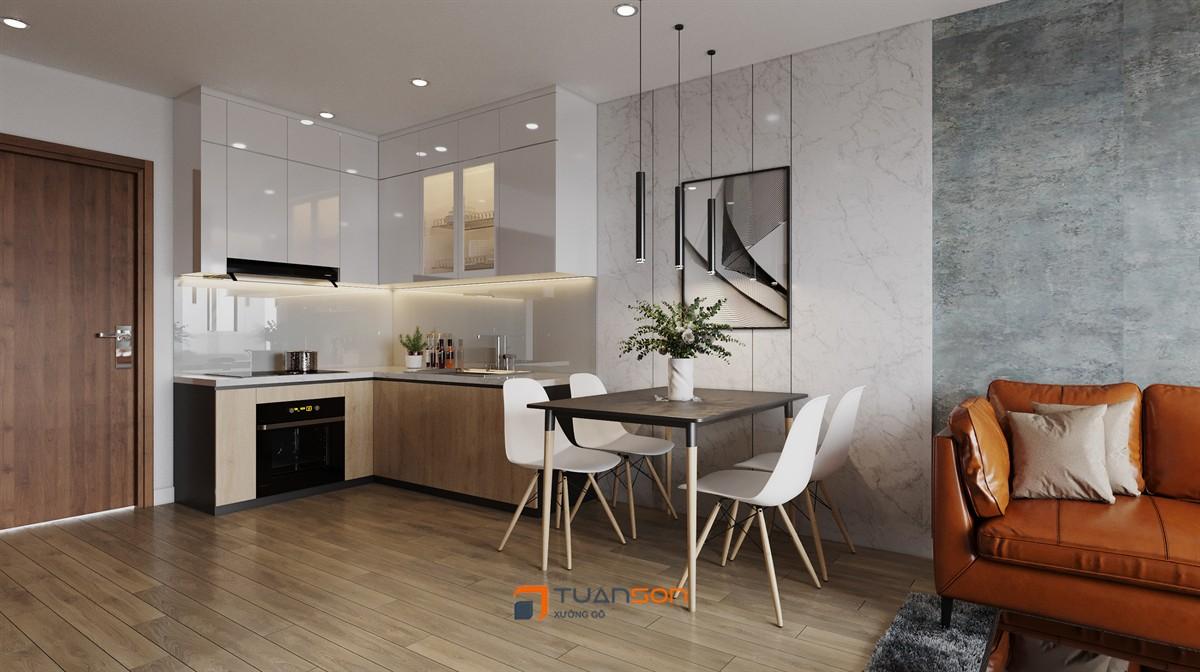 Thiết kế nội thất 1PN+1 (43m2) S3.01 Vinomes Smart City