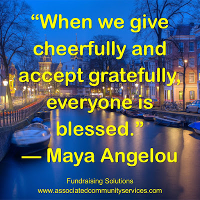 When we give cheerfully and accept gratefully, everyone is blessed