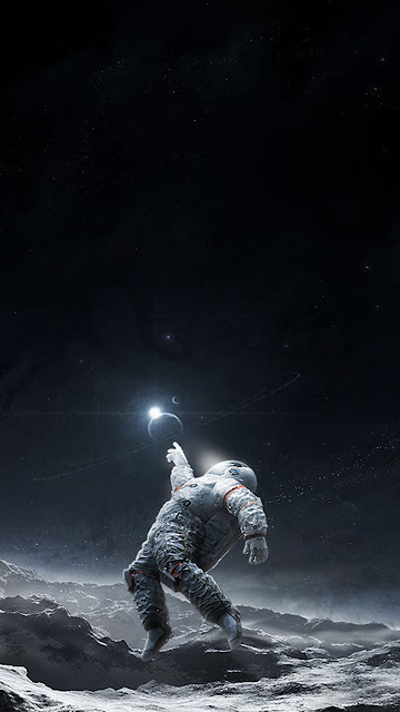 Astronauta na Lua para papel de Parede