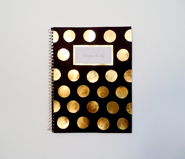 DIY Polka Dot Notebook Cover