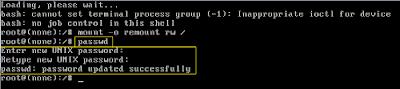 cara mengganti password root debian