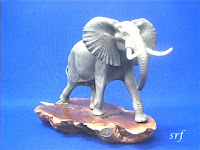 Elephant Figurine Airbrushed John Perry