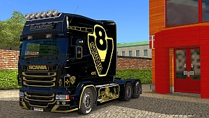 Europfast paint job for Scania RJL Longline cabin
