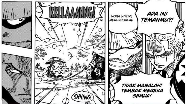 Pembahasan Lengkap One Piece Chapter 952 - Pertemuan Aneh Kawamatsu dan Hyori