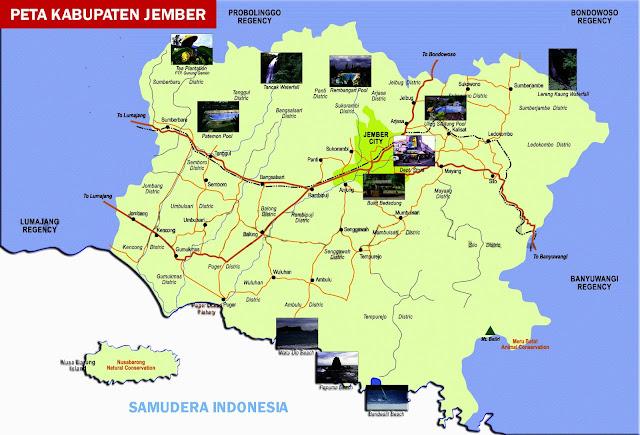 Gambar Peta Kabupaten Jember