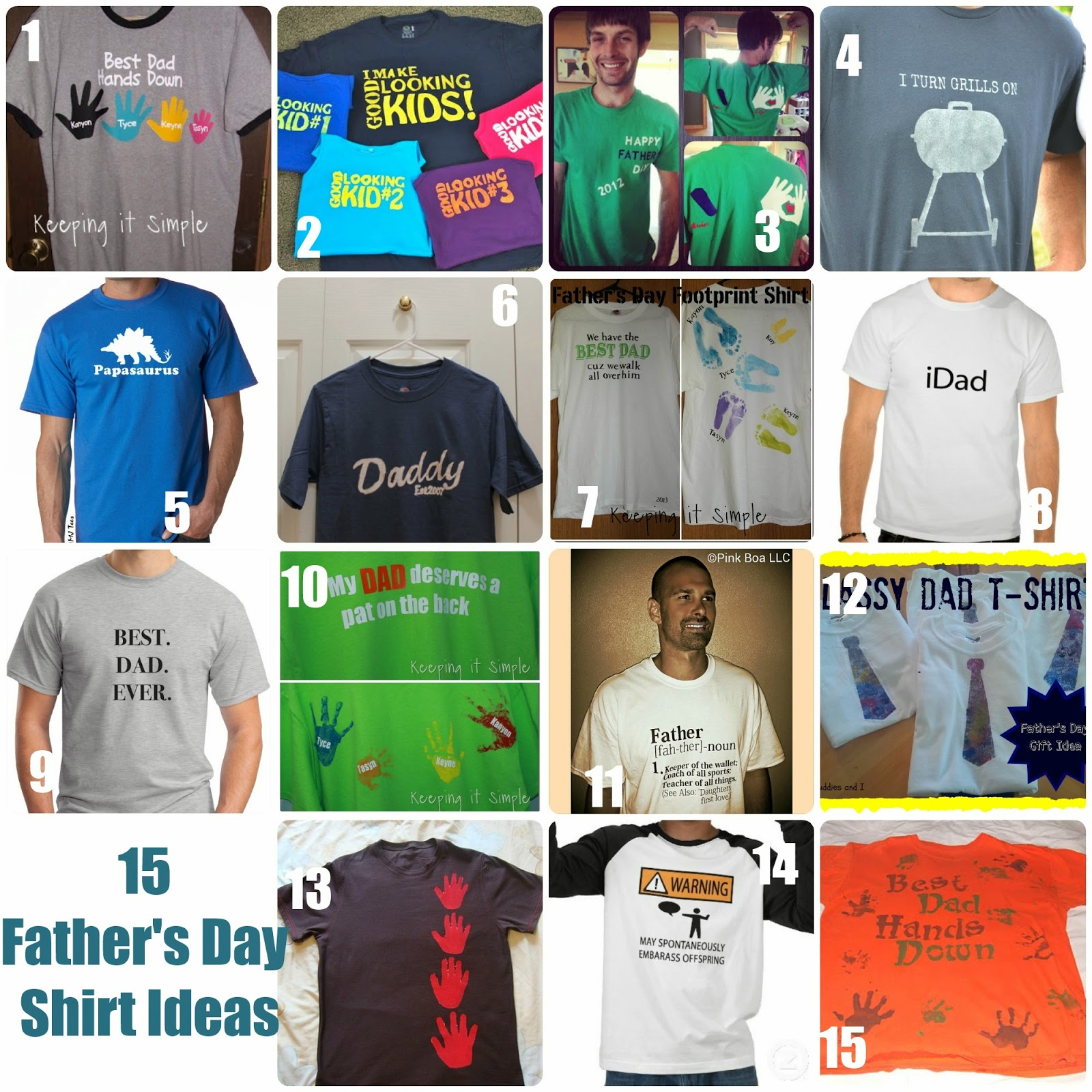 Keeping it Simple: 15 Father's Day Shirt Ideas #FathersDay