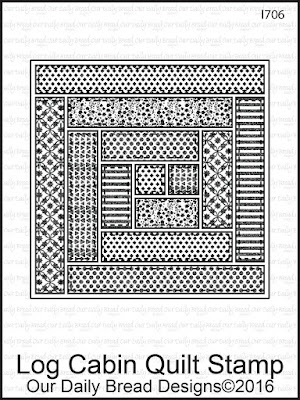 Our Daily Bread Designs Stamp Set: Log Cabin Quilt Stamp