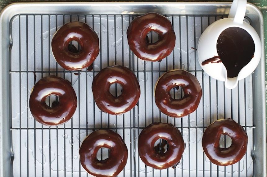 Baked Buttermilk Nutella Ganache Doughnuts