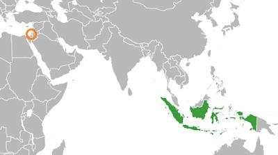 Lokasi Indonesia dan Palestina