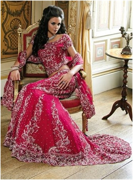 Wedding Lehengas with Trail