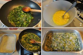 foto preparazione Ricetta frittata al forno di lattuga e cipolla di Tropea per bambini