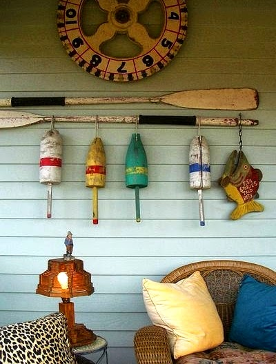 Buoy Decor on the Porch