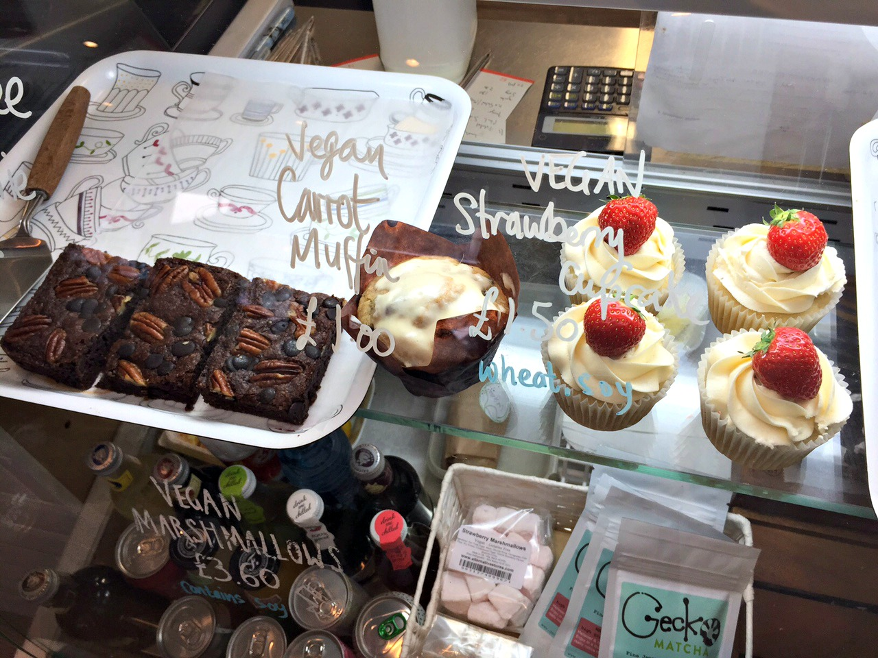 Vegan cakes at Good Apple Cafe in Sunderland