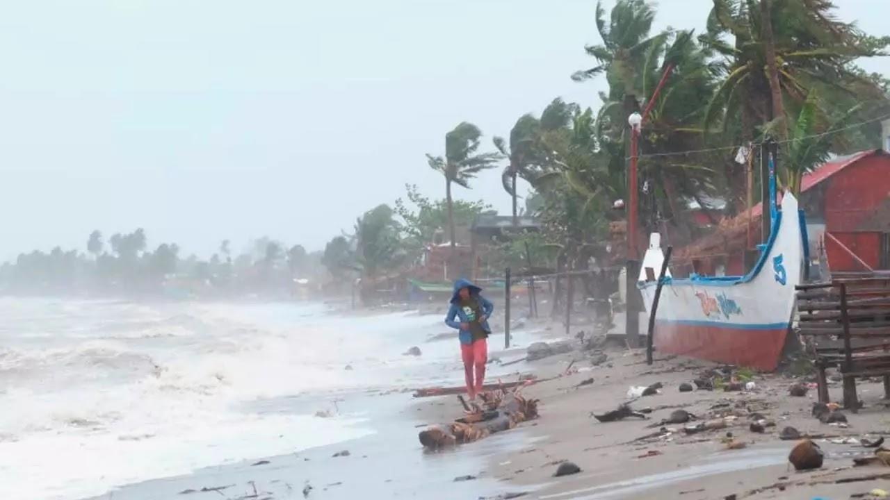 tifón Goni en Filipinas