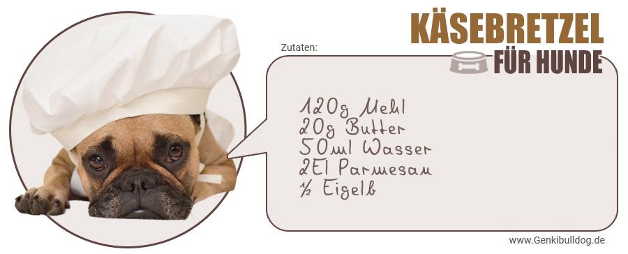 Hundekekse selbst backen Rezept Käse Parmesan Bretzel für Hunde