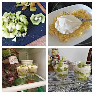 Easy and delicious, Creamy Banana and Kiwi Parfaits