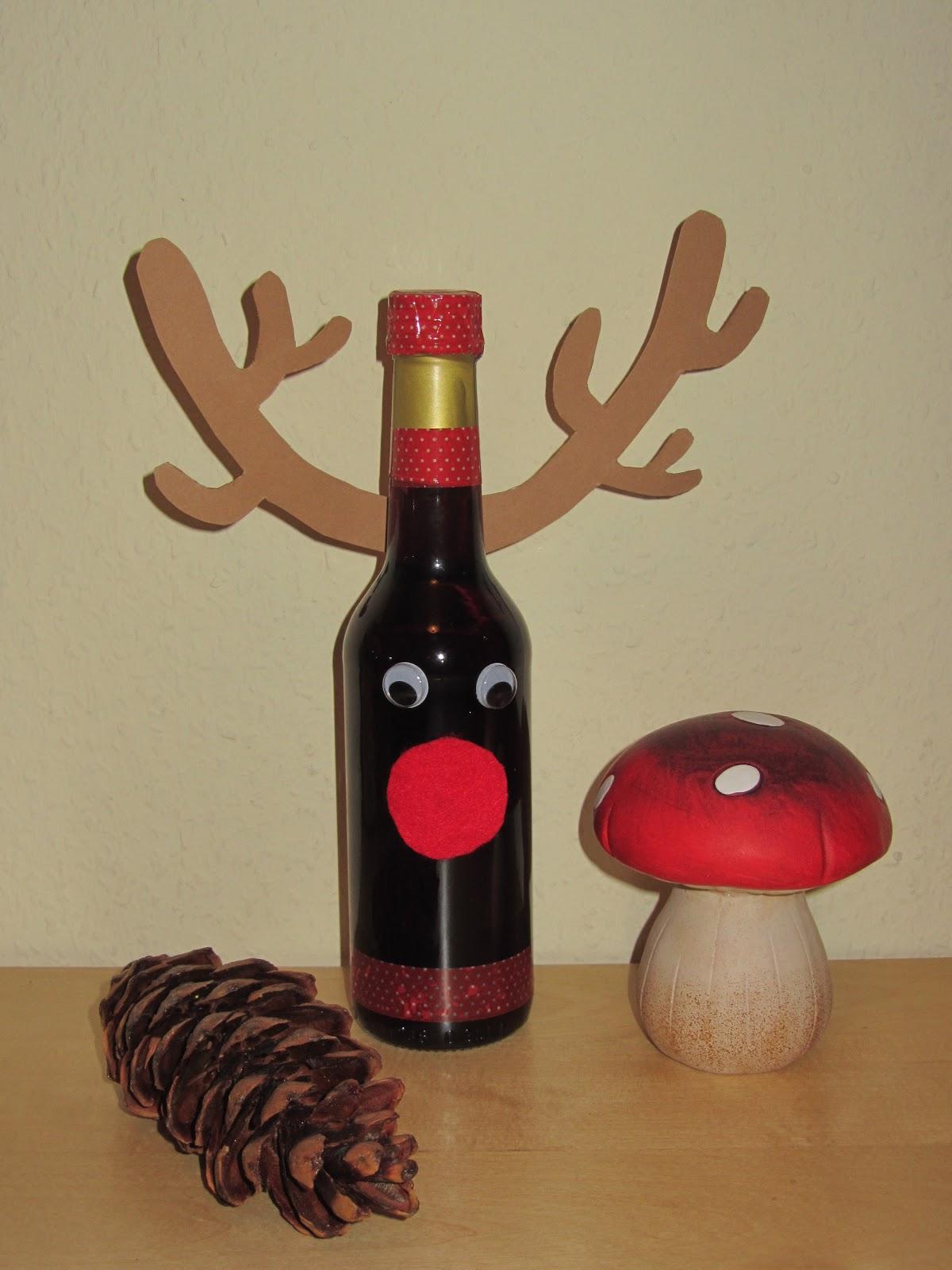 Flaschen Verzieren Geschenk Weihnachtsgeschenke Verpacken 5