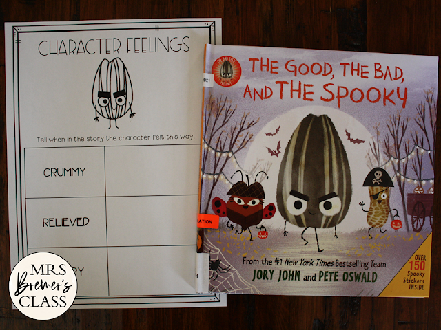 The Good The Bad and The Spooky book study activities unit with literacy activities and a craftivity for Kindergarten and First Grade