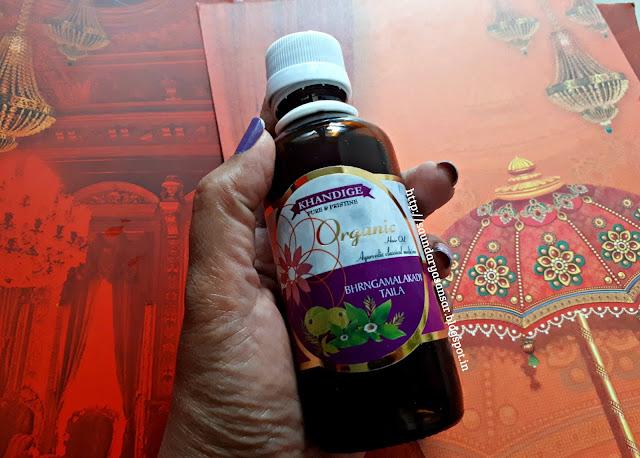 Khandige Bhrangamalakadi Organic Hair oil Review