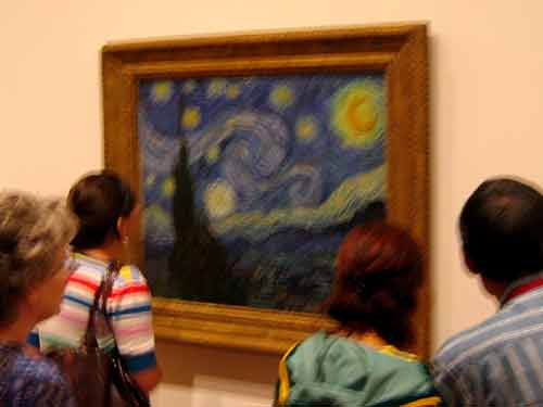 The Starry Night Vincent Van Gogh At MOMA New York