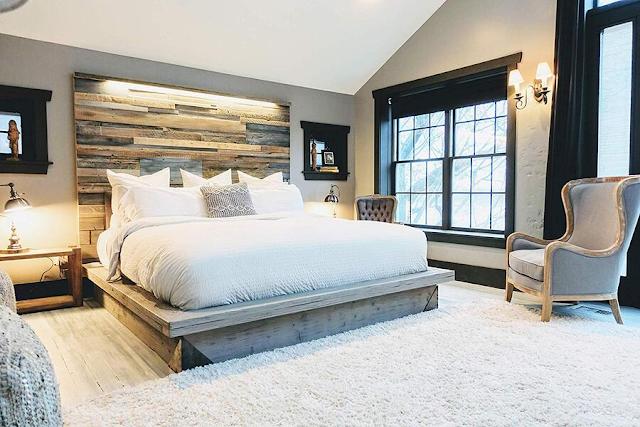 Phòng ngủ kiểu Bắc Âu đẹp cuốn hút.