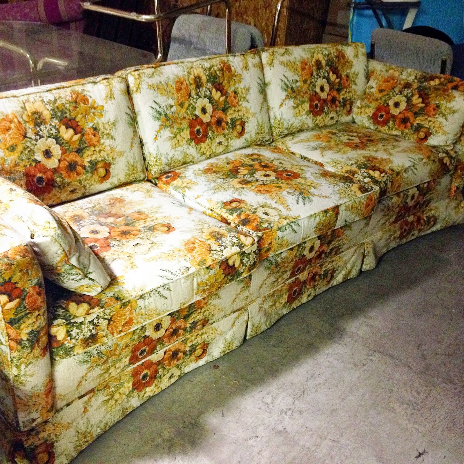 What You Donu0027t See It? Look Again. The Sleek Square Back And Seat Cushions,  The Side Pillows, The Length. Well, I Picked Up This Vintage Ethan Allen  Sofa ...