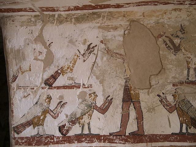 Paintings from the tomb of Petosiris at Muzawaka (XXXVIII)