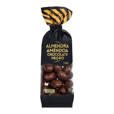 Almendras recubiertas de chocolate negro Hacendado