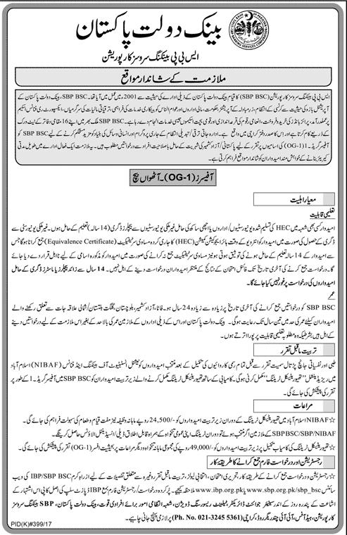 SBP Jobs 2017 State Bank of Pakistan Jobs
