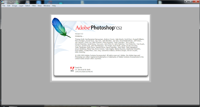 Tampilan Loading Photoshop CS2