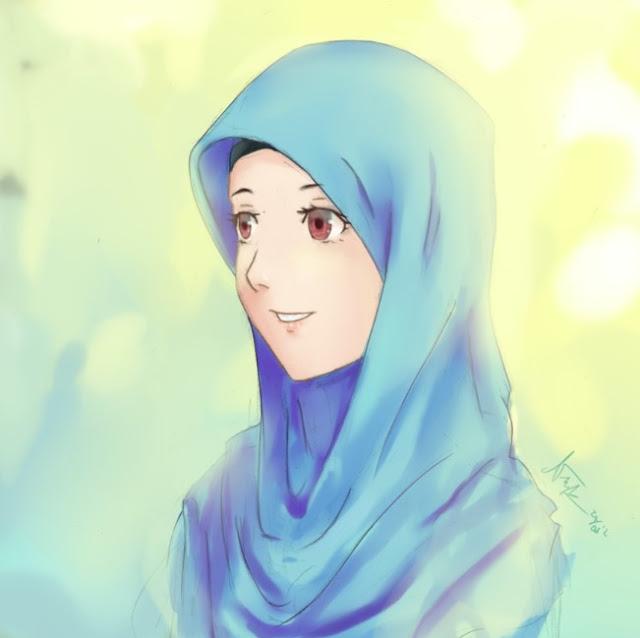 Gambar kartun muslimah lucu dewasa