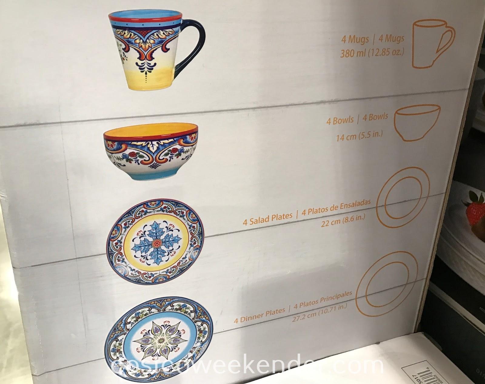 Costco 1075017 - Euro Ceramica Zanzibar 16 Piece Dinnerware Set: great for any meal