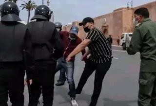 الأمن يعتقل المشتبه به في تعنيف الأساتذة المتعاقدين