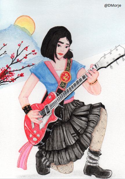Aquarelista DMorje Watercolor Mulan Ilustração Mulan Desenho Mulan
