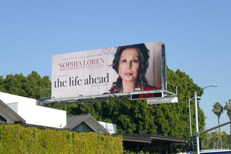 Life Ahead movie FYC billboard