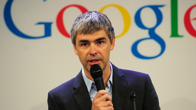 Larry Page and Google holding mice