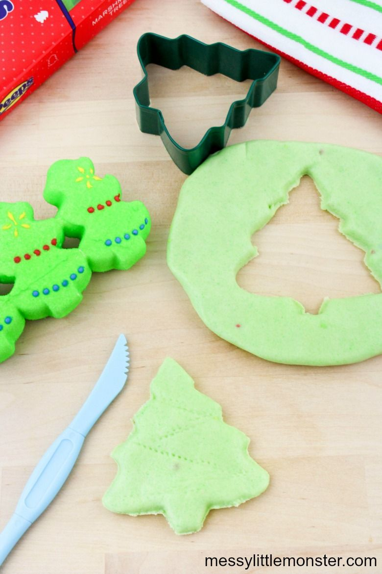 Edible Christmas playdough activity for kids