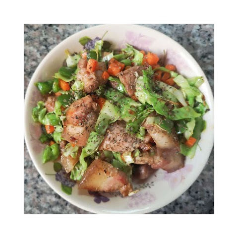Quick and Easy Baon | Buttered Pork and Veggies