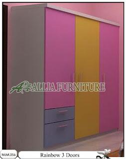 Lemari Baju Minimalis Rainbow 3 Doors