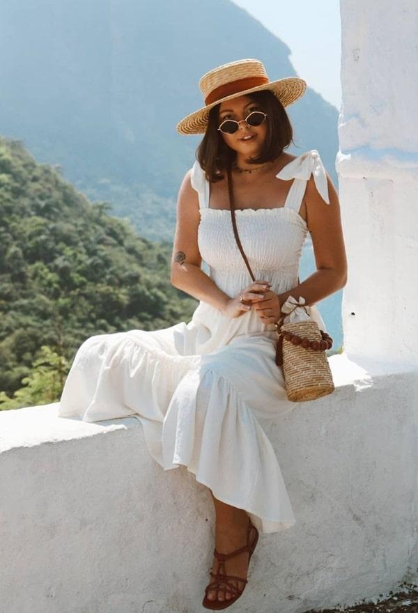 vestido branco midi tendência verão 2021