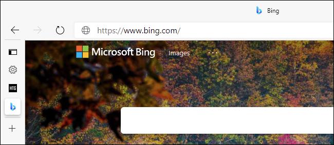 يعرض الشريط الجانبي لعلامة التبويب المطوية في Edge الرموز المفضلة