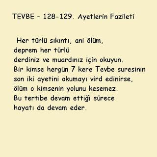 """""""Lekad caekum """"Esrarı.. TEVBE – 128-129. Ayetlerin Fazileti"""