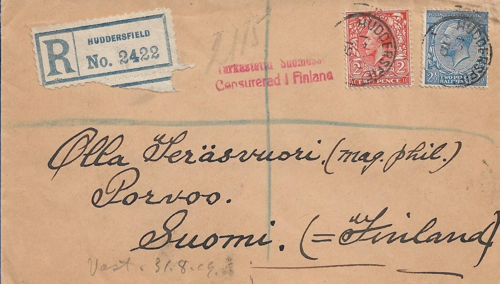 Kirjattu Kirje Posti