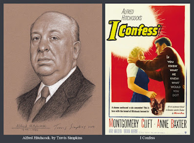 Alfred Hitchcock. The Master of Suspense. Film Director. I Confess. by Travis Simpkins